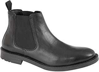 Mens Twin Gusset Leather Dealer Boots