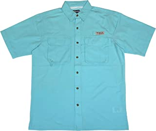 Bimini Bay Outfitters Men's Bimini Flats IV with BloodGuard Quick Dri Short Sleeve Shirt (2-Pack)