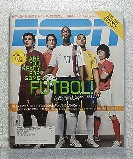 DaMarcus Beasley, Ruud Van Nistelrooy, Luis Figo, Adriano & Ji-Sung Park - World Cup Soccer 2006: Are You Ready for Some Futbol! - ESPN Magazine - June 5, 2006