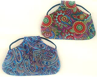 Twisted 2 Perfection Reversible Standard Size Chicken Saddles Hen Aprons (Blue & Purple Set of 2)