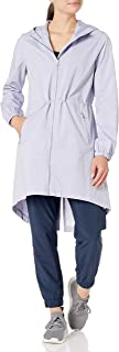 Core 10 Amazon Brand Women's Lightweight Water-Resistant Woven Rain Trench Jacket