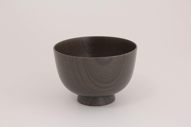 白菜三ウォーターフロント白鷺木工(Shirasagi Mokkou) 汁椀 グレー - 白鷺木工 サブロク椀 仙才 欅 カラフル