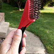 Warner 14 3x13 Row Stainless Steel Wire Brush with Scraper 10483