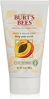 Burt's Bees Peach and Willowbark Deep Pore Scrub, 4 Ounces (Pack of 2)