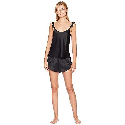 Felina Robyn Satin Cami and Shorts Set (Black) Women