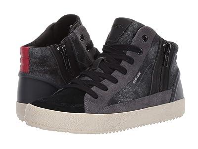 Geox Kids Jr Alonisso 39 (Big Kid) (Black/Dark Grey) Boys Shoes