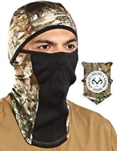 Camo Balaclava Face Mask with Realtree Edge - Windproof Cold Weather Ski Mask - For Hunting, Fishing & Camping