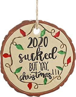 CHUANGLI 2020 Faux Wooden Christmas Ornaments | 2020...