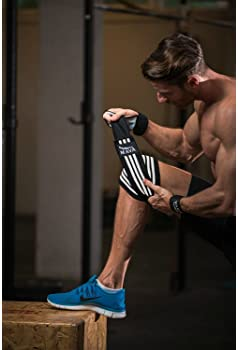 Mava Sports Knee Wraps (Pair) for Cross Training WODs,Gym Workout,Weightlifting,Fitness & Powerlifting - Knee Straps ...