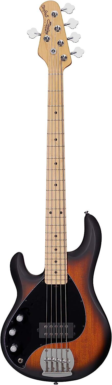 Sterling by 贈答 Music Man 5 直営限定アウトレット String Sunbur Bass Guitar Vintage Left