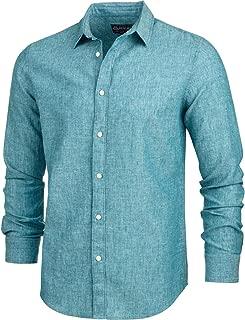 American Rag Mens Linen Blend Long Sleeves Button-Down Shirt
