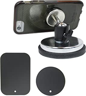Livestream Gear - Rubber Coated Magnetic Phone Mount w/Ball Head - Includes Magnetic Mounting Plate System to Attach Device. Great for Video, Pictures, Livestreaming, or WOD. (XL Magnetic Mount)