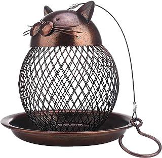 ZGPTX Home Decor for Sculpture Kitten Feeding Birdware Wire Crafts Piece Metal Wild Balcony Outdoor Hanging Style