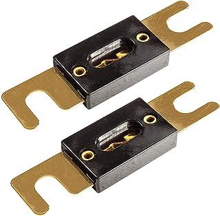 tomzz Audio 5800 022 ANL Sicherung 100A vergoldete Kontakte 2 Stück für KFZ Car HiFi Auto Endstufen Sicherungshalter