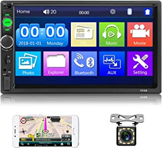 $51 » 7 Inch Double Din Car Stereo 7'' HD Touch Screen Car Radio Digital Display Multimedia MP5 Player Support Bluetooth USB AUX...