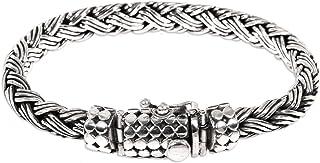 NOVICA .925 Sterling Silver Men's Braided Chain Bracelet 'Friendship'