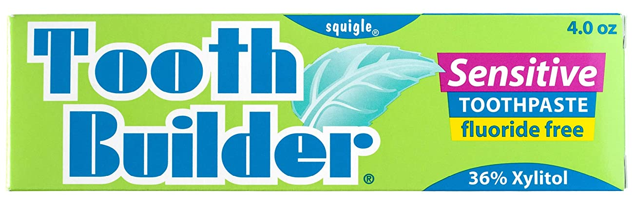 電池神秘君主制Squigle Tooth Builder Sensitive Toothpaste (4 Oz) by Khun Yod Inter