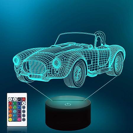 3d Car Shape Night Light 3d Illusion Night Lamp Cool Car Design Acrylic Desk Lamp Gift For Vintage Car Lovers Led Table Lamp Classic Car Shape Amazon De Beleuchtung