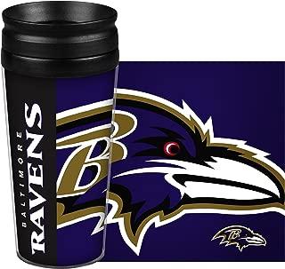 Boelter Brands NFL Baltimore Ravens 14 Ounce Travel TumblerFull Wrap Hype, Team Color, 14 Ounce