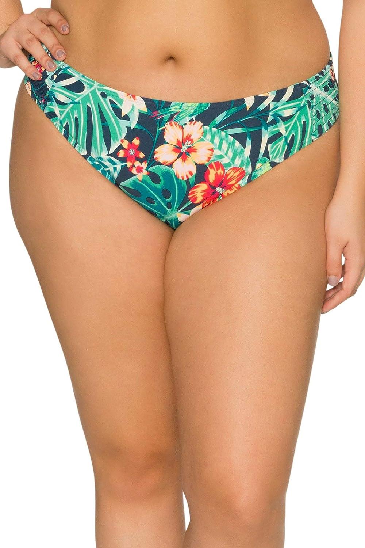Sunsets Curve Women's Camila Smocked Hipster Bikini Bottom Swimsuit