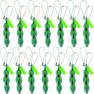 ELF Unpack the toy- Fidget Bean Toy Set Edamame Soybean Keychain, Anxiety Stress Relief ADHD Toy Keychain Extrusion Pea To...