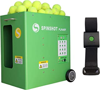 Spinshot Player Tennis Ball Machine with Remote Watch Option
