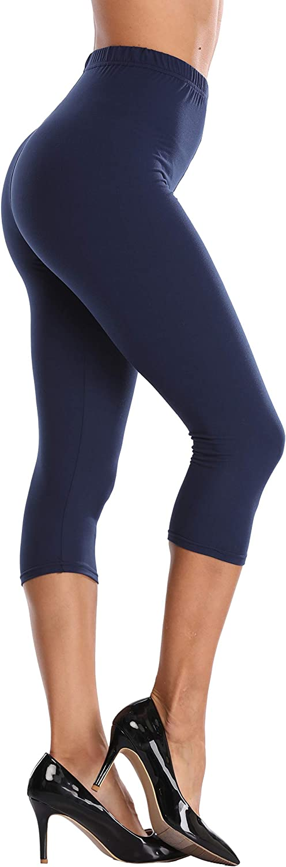 LIGHTBACK High Waisted Capri Leggings Croped Yoga Pant Workout Capris Gym Tights