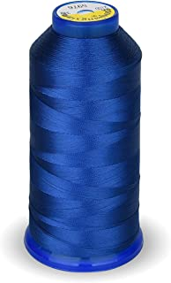 High Strength Polyester Thread Nylon Sewing Thread 1800 Yard Size T70#69 210D/3 for Weaves, Upholstery, Jeans and Weaving Hair, Drapery, Beading, Purses, Leather (Royal Blue)