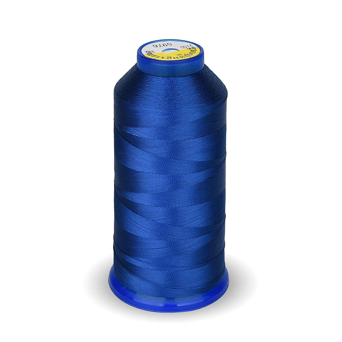 Bonded Nylon Sewing Thread 1800 Yard Size T70#69 210D/3 for Weaves, Upholstery, Jeans and Weaving Hair, Drapery, Beading, Purses, Leather (Royal Blue)