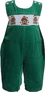 Dana Kids Little Boys Christmas Santa Reindeer Sleigh Gingerbread Man Workshop Red Green Corduroy Longall 6M to 5T