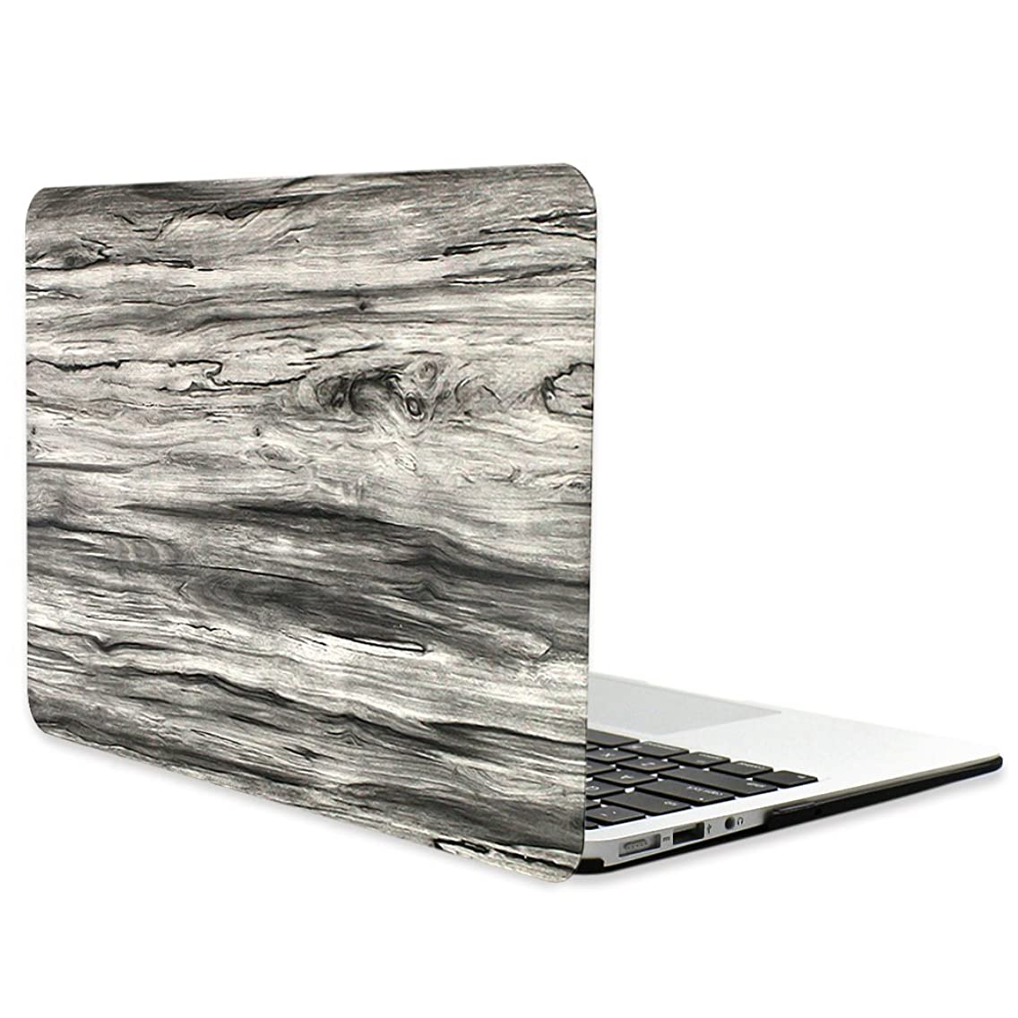 Masino Wood Grain Series Hard Shell Case Protective Rubberized Cover for MacBook Pro 15-Inch 15