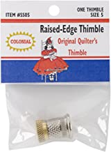 Colonial Raised-Edge Thimble-Size 5