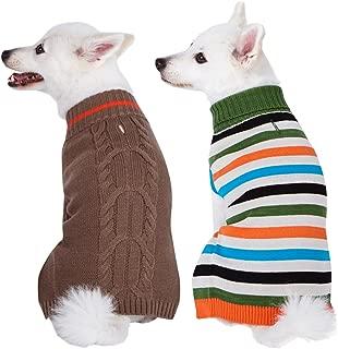 Blueberry Pet 6 Patterns Fall & Winter Chic Interlock Dog Sweater