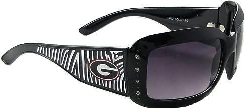 Sports Accessory Store Georgia Bulldogs UGA Black Zebra Print Clear Crystal Womens Sunglasses S4ZB