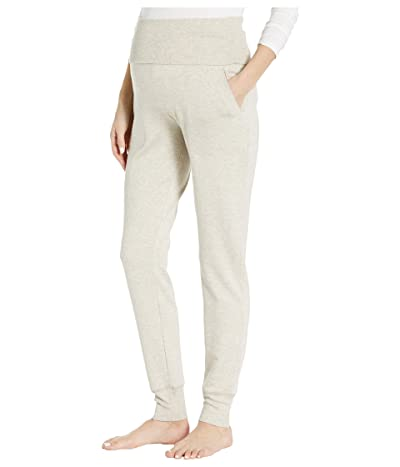 Beyond Yoga Cozy Fleece Maternity Sweatpants (Oatmeal Heather) Women