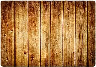 Hidecor Front Door Mat Indoor Welcome Rustic Old Barn Wood Doormat Non Slip Carpet Flannel Rug for Bathroom Kitchen Bedroom Floor,18
