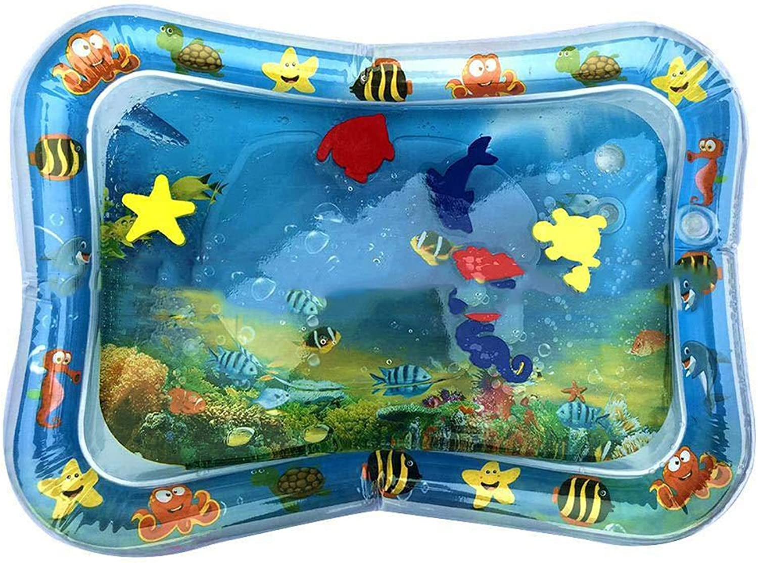 Water Play Mat for Kids Fun, Development Accessory Fun Water Play Mat for Infants Extra-Wide Backrest Inflatable Baby Water Mat Unisex