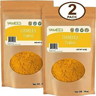 Yamees Turmeric Powder - Ground Turmeric - Tumeric Spice - Tumeric Powder Bulk - Bulk Spices - 2 Pack of 16 Ounce Each