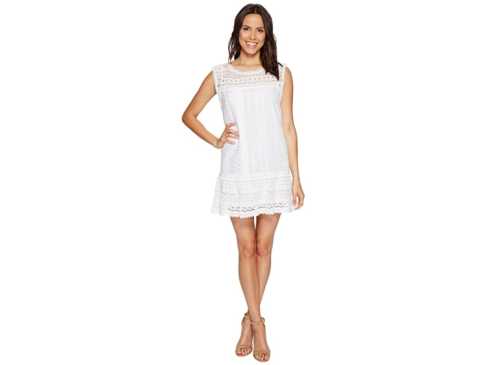 BB Dakota Milo Crochet Dress (Optic White) Women