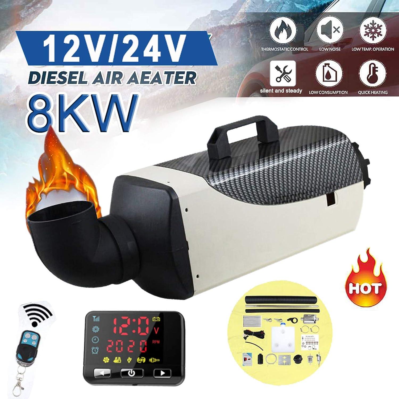 24 V para coche LCD con mando a distancia cami/ón di/ésel Calefacci/ón de aire de estacionamiento de OneV FT para di/ésel camioneta 8 kW 24 V