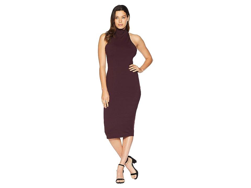 Susana Monaco High Neck Halter Midi Dress (Chianti) Women