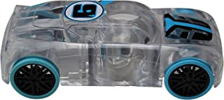 Award Winning Marble Racers Light Up 1:43 Scale Race Car with Quick Shot Pull-Back Motor with Blue Wheels