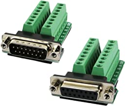 2 Pack DB15 D-SUB Male Connector Adapter Module Breakout Board