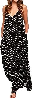 Womens Floral Printed Maxi Dress Casual Summer Sundress Long Boho Beach Dress Plus Size