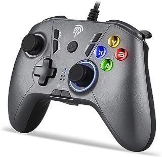 EasySMX SL-9111 有線ゲームパッド コントローラー TURBO連射・振動機能搭載 Windows/ PS3/ Android/TV Boxに対応可能(シルバー)