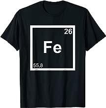 Iron Triathlete T-Shirt Fe Periodic System Swim Bike Run Tee