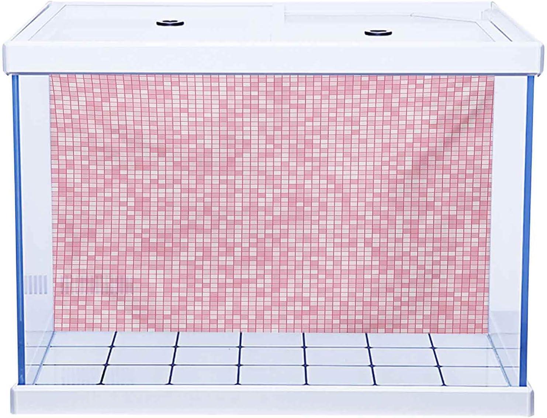 Ocean Aquarium trust Background Pink and Ti Popular brand Style Gingham White Mosaic
