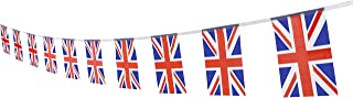UK British Flag,100Feet/76Pcs United Kingdom Union Jack National Country World Pennant Flags Banner,Party Decoration Supplies For Olympics,Bar,Indoor and outdoor flags,Intarnational Festival