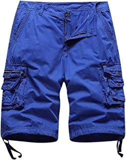 Comaba Men's Plus-Size Relaxed-Fit Solid Pockets Athletic Beachwear Shorts Pant