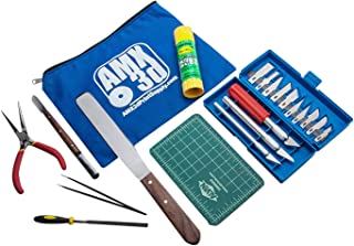 AMX3d 25 Piece 3D Printer Tool Kit - All The 3D Printing Tools Needed to Clean & Finish 3D Prints - Print Like a Pro